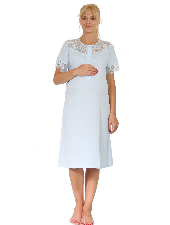 Maternity & Hospital Gown - Baby Blue - oh9 shop