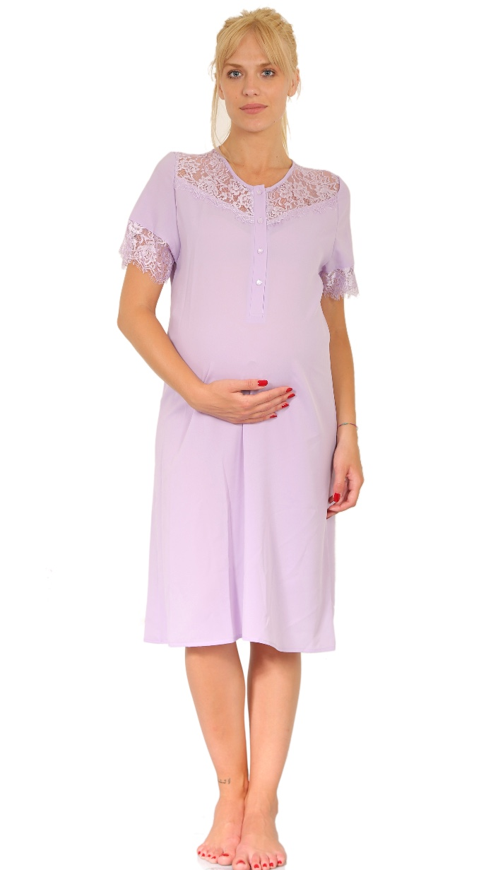 Maternity & Hospital Gown - Lilac - oh9 shop