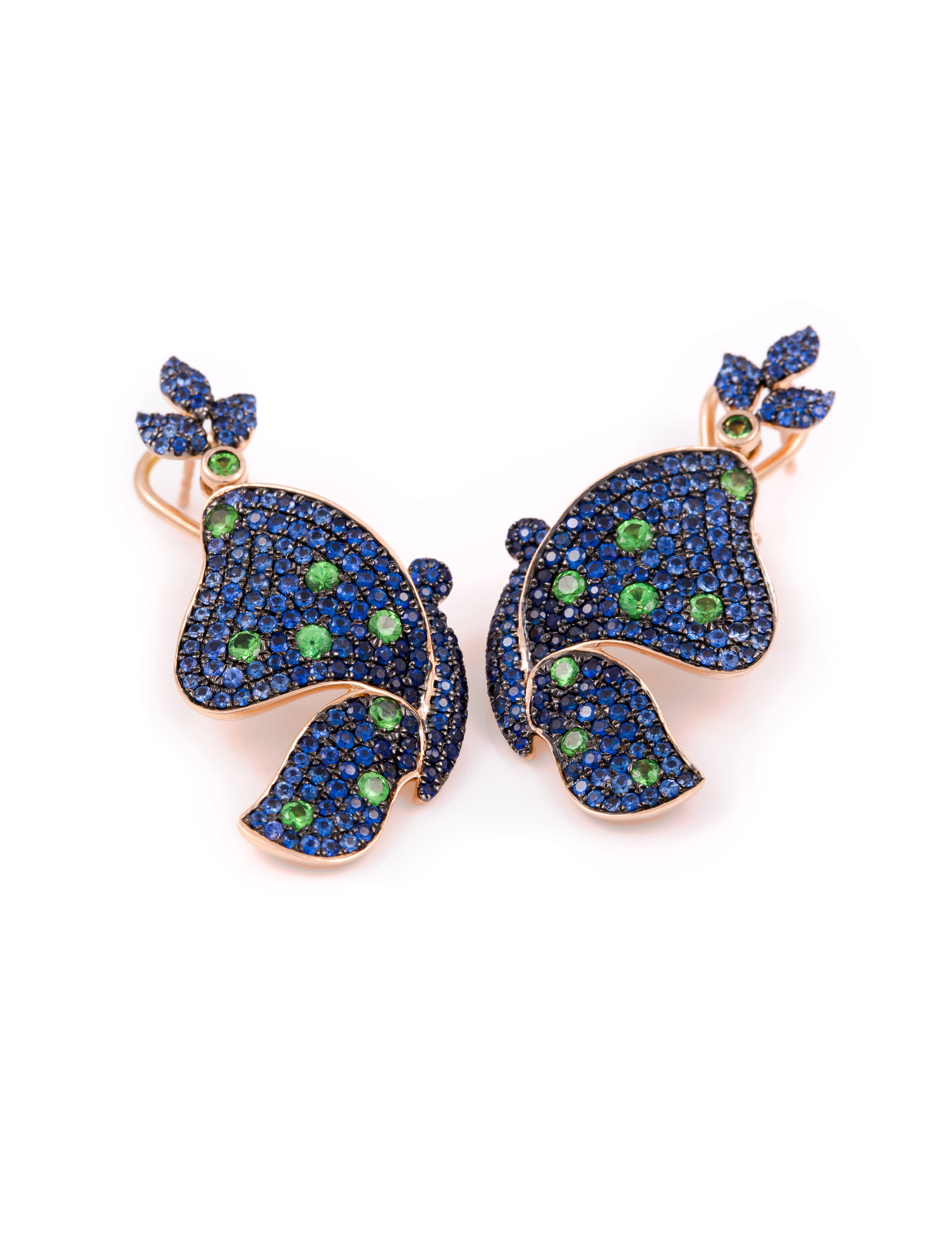 butterfly tanzanite jewelry chan blue whimsical fluttery beyond pin series brooch sapphire diamond wallace lapis